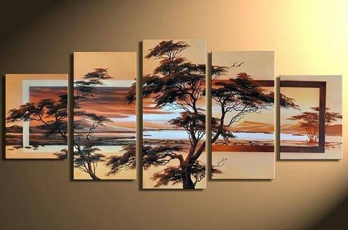 cuadro pintura arte a mano decorativo moderno 18pagos