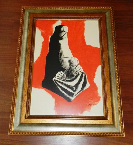 cuadro pintura genuino eduardo kingman