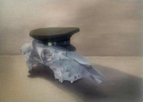 cuadro pintura obra arte craneo oleo sobre tela envio gratis