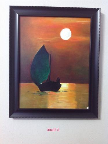 cuadro, pintura, óleo, acrílico, paisaje marino