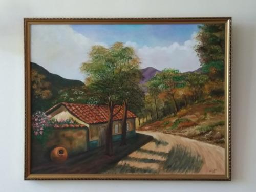 cuadro pintura óleo en tela