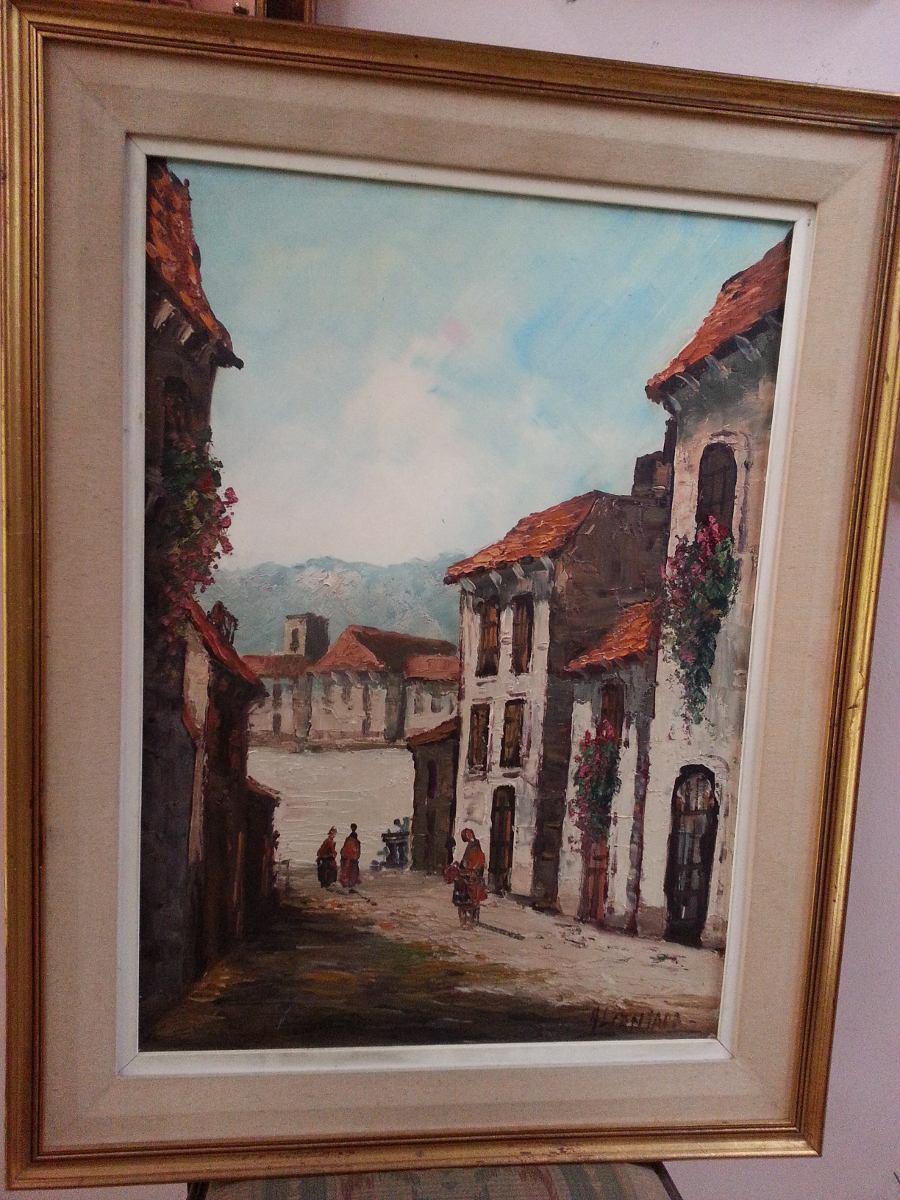 Cuadro Pintura Oleo Pintor Argentino Alcantara - $ 5.700,00 en ...