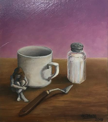 cuadro pintura original - sal de vida - oleo sobre madera