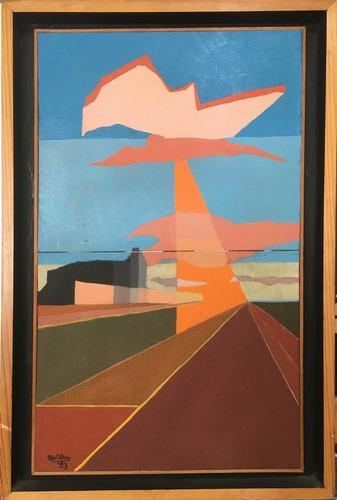 cuadro pintura original - tarde calurosa - oleo