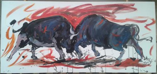 cuadro pintura toros