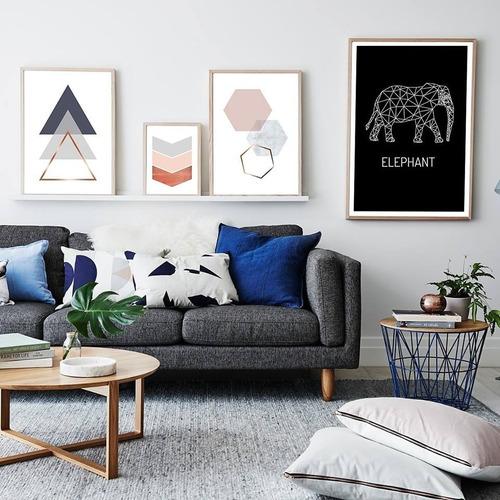 cuadro plano nórdico 13x18 escandinavo moderno decoración