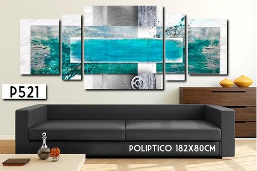 cuadro poliptico 215x80-182x80 abstracto decorativo moderno