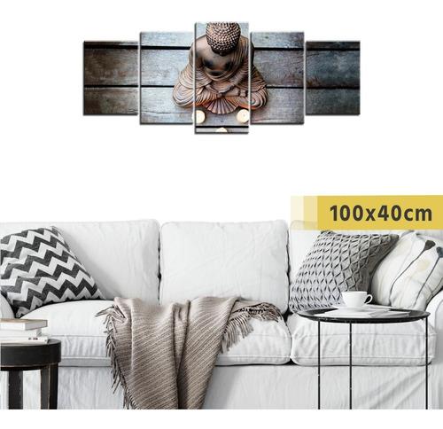 cuadro políptico madera buda relax artístico decorativo
