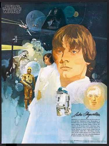 cuadro poster star wars  50 x 76 cm