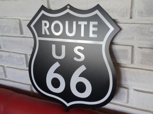 cuadro route 66 black + stickers