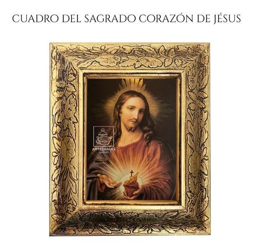 cuadro sagrado corazón de jesús 31x26 cm