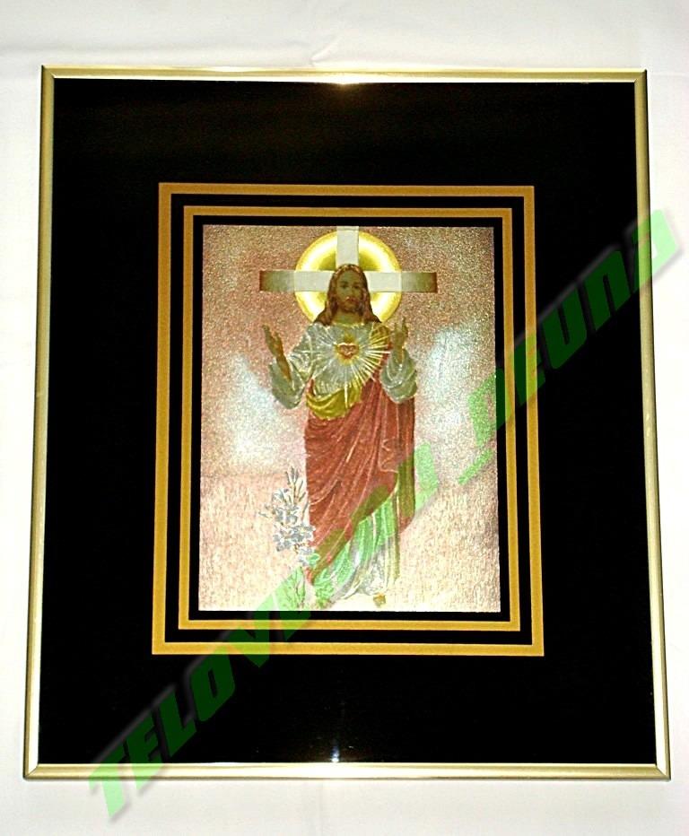 Cuadro Sagrado Corazon De Jesus Enmarcado Tornasol Imagen - Bs ...