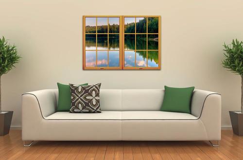 cuadro simulador de ventana diseño moderno paisajes ciudades
