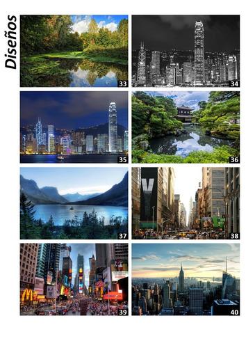cuadro simulador de ventana paisajes ciudades 90x60cm