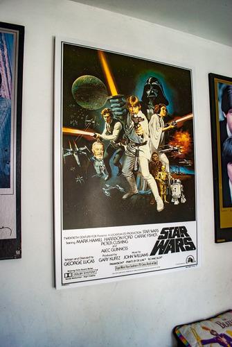 cuadro star wars del poster  la primera pelicula