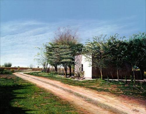 cuadro susana alego, paisaje de campo, edición limitada