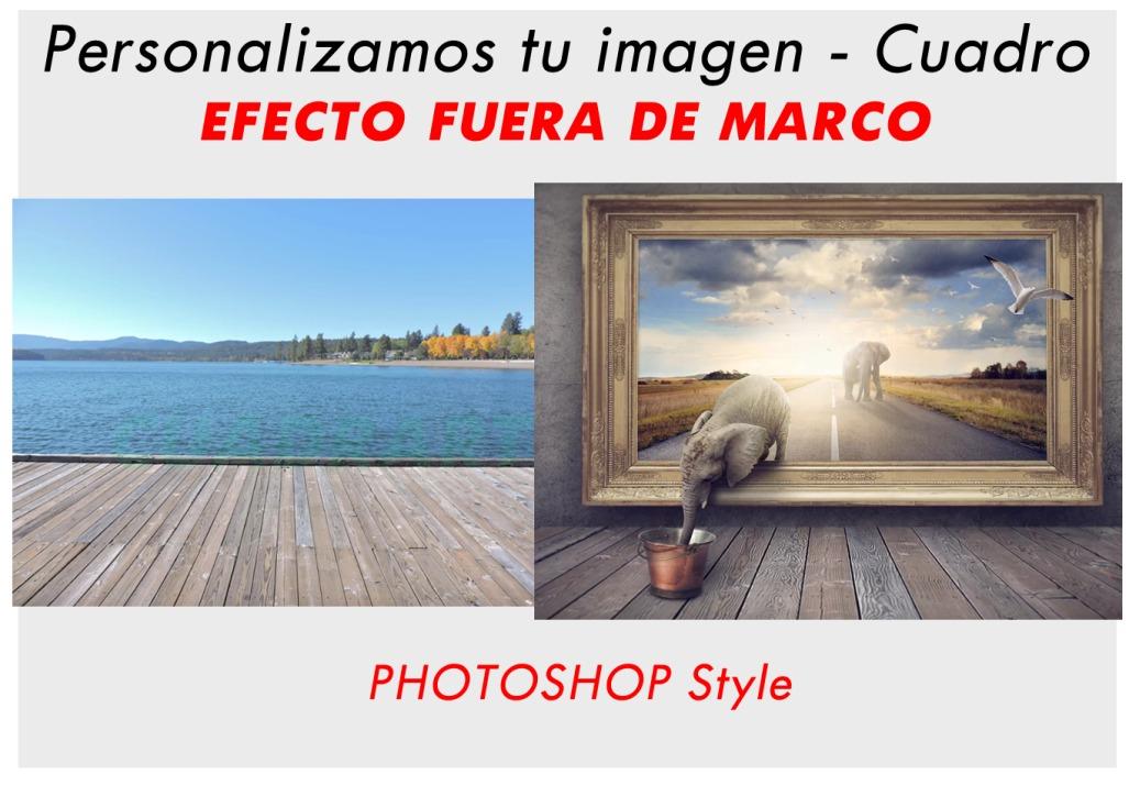 Cuadro Tela Canvas Con Tu Foto Efecto Digital Fuera De Marco - $ 823 ...