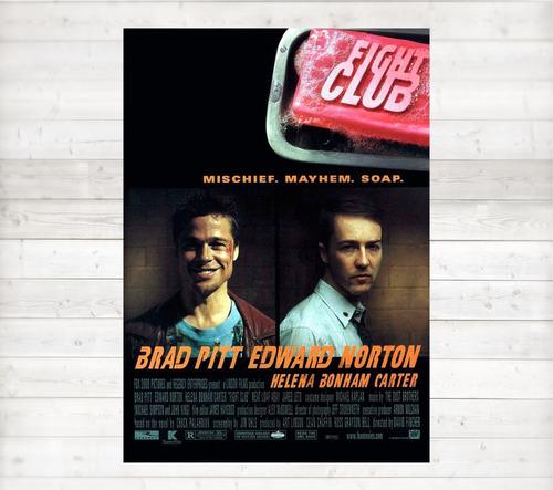 cuadro tela canvas el club de la pelea  60x90 cm...no lona!