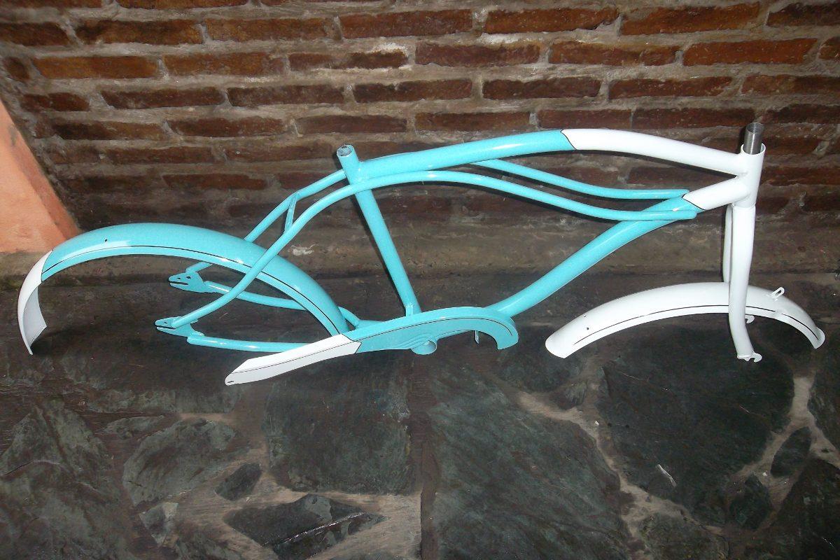 Cuadro Tipo Dyno P/armar Bicicleta Playera Semi Chopera R 26 ...