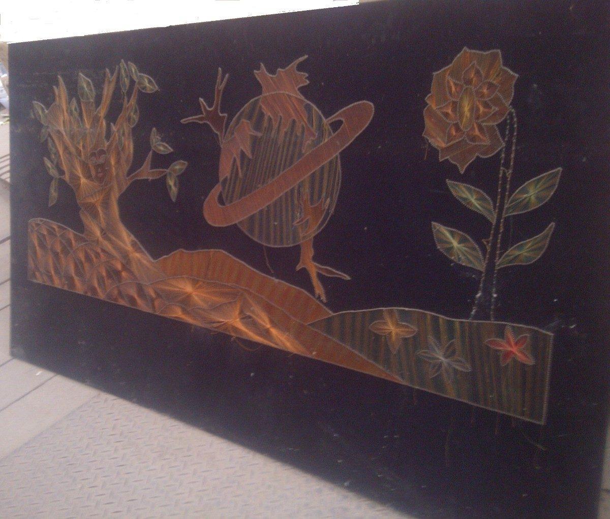 Cuadro Tipo Mural Antiguo Con Clavos E Hilos - $ 599,00 en Mercado Libre