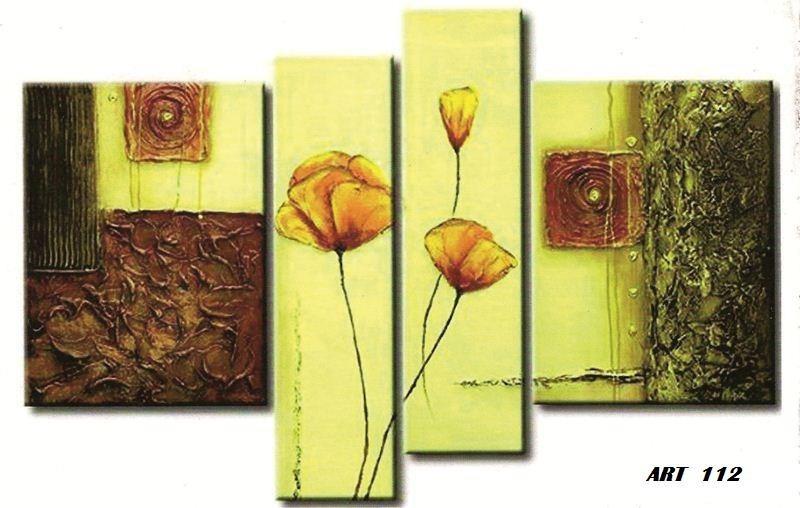 cuadro triptico abstracto moderno relieve textura x