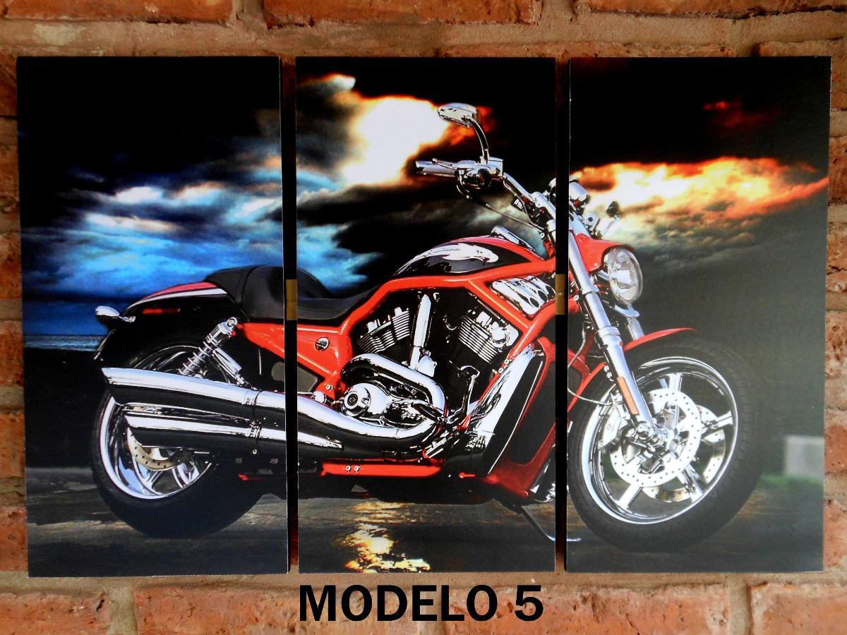 Cuadro Triptico Autos Antiguos, Motos - $ 390,00 en Mercado Libre