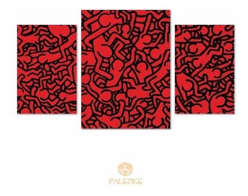 cuadro triptico brooklyn sydney moderno deco abstracto arte