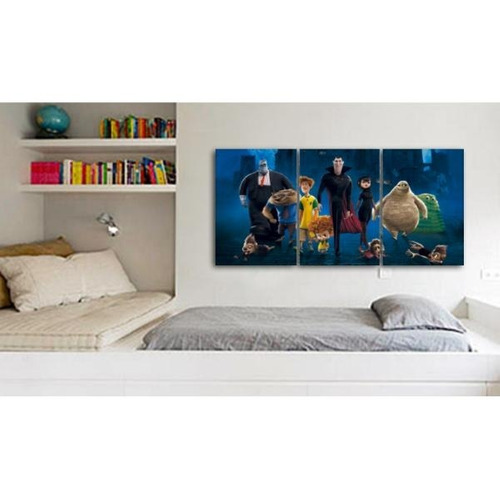 cuadro triptico hotel transylvania 90x40cm
