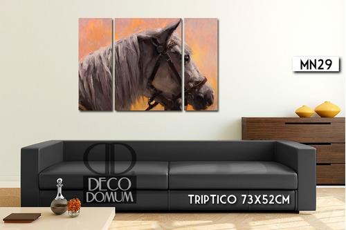 cuadro triptico moderno desde 104x36cm multiples formatos living animales diseño personalizado