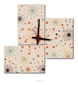 Reloj Pared Cocina Diseño - Cuadros Abstracto en Mercado ...