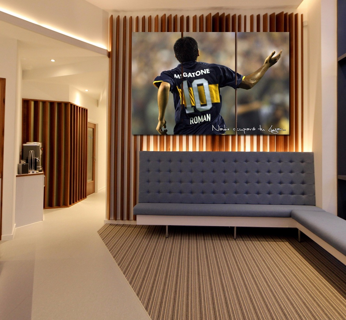 Cuadro Triptico Roman Riquelme Boca Juniors 40x60cm Local 500  # Muebles Riquelme