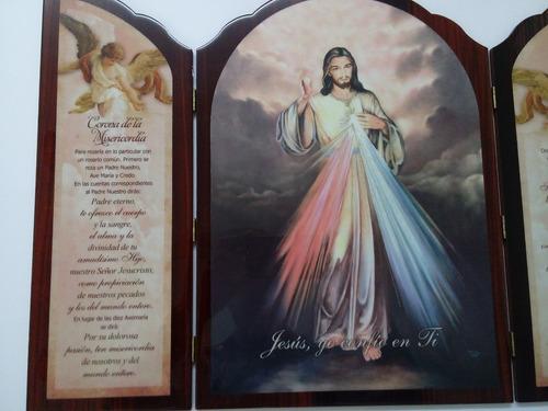 cuadro tríptico señor de la misericordia.