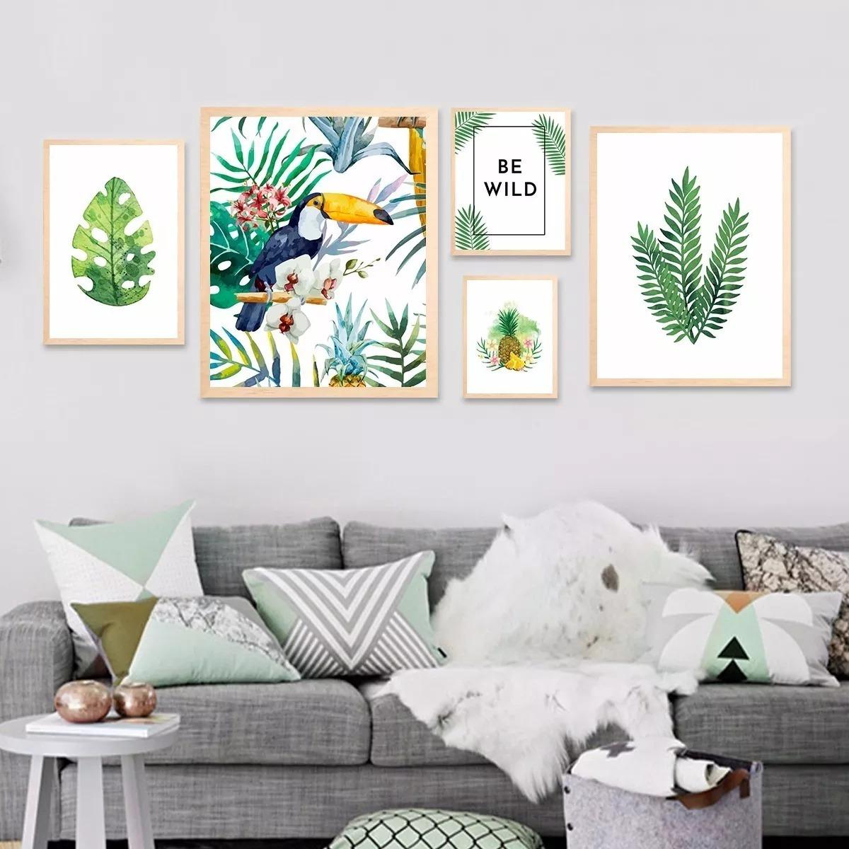 Cuadro Tropical 13x18 Escandinavo Decoración Nordico Plantas - $ 89 ...
