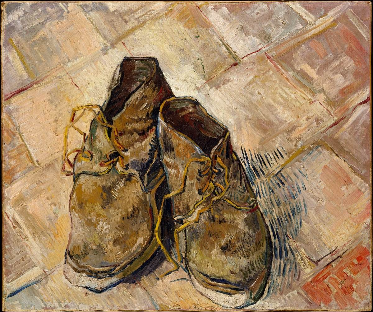 Sobre En Reproducción 900 Zapatos Van Gogh 00 2 Lienzo Cuadro CaFqtA