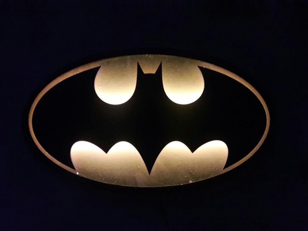 cuadro velador led d pared batman superheroes infantil niños. Cargando zoom. f55c368bc21