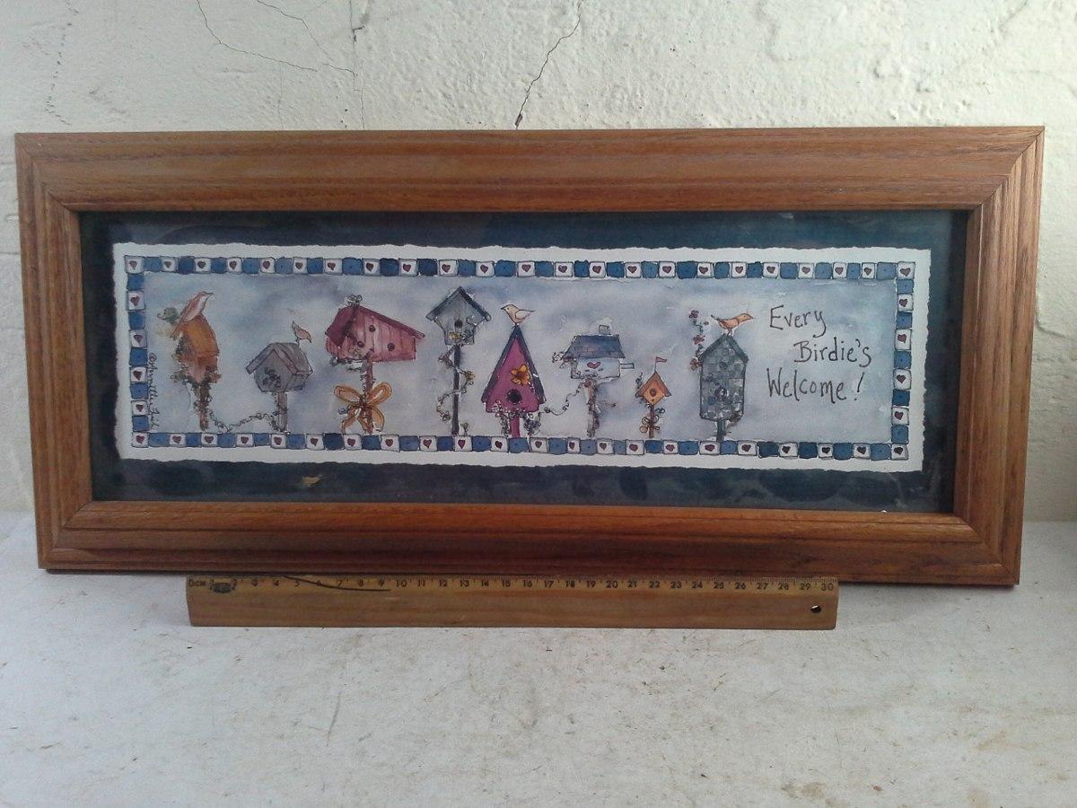 Cuadro vintage marco de madera 1294 en - Cuadros vintage madera ...