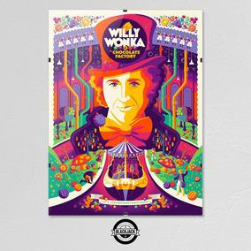 Cuadro Willy Wonka Charlie Chocolate Cine 30x40 Clip