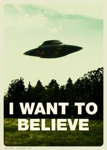 cuadro x-files  i want to believe  fans serie 35 x 50 cm