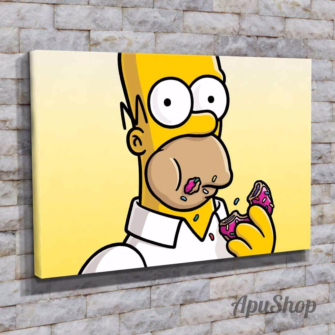 Dibujos Con Cuadros.Cuadros 45x30 Pelicula Los Simpson Dibujos Animados Y Mas 799 00