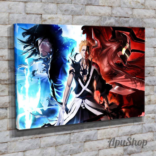cuadros 60x40 bleach animé manga dibujo animado decorativo