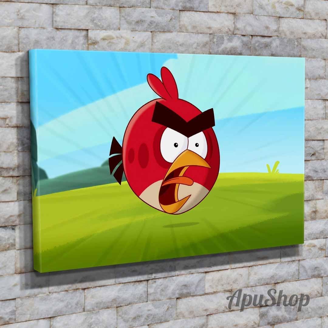 Dibujos Con Cuadros.Cuadros 75x50 Angry Birds Dibujos Animados Infantiles Ninos