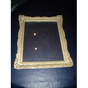 Active Marco De Madera Decorado Oro Medida Interior Aprox 50x70 Cm Arte Y Antigüedades