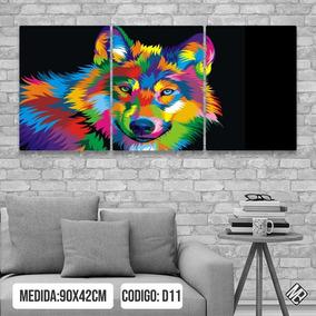Cuadro Lobo De Colores En Mercado Libre Argentina