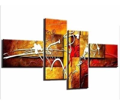 cuadros abstracto 4piezas  poliptico decorativo