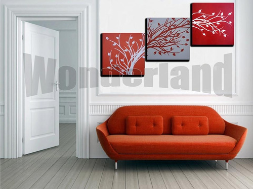 cuadros abstracto triptico moderno decorativo minimalista