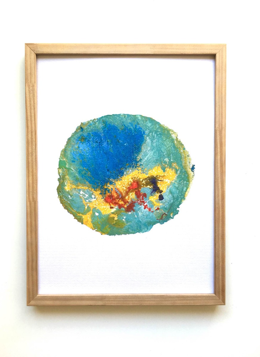 Cuadros Abstractos Acrílicos, Collage, Aerosol - $ 600,00 en Mercado ...