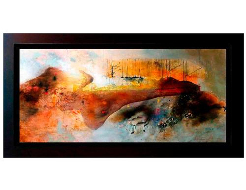 cuadros abstractos  al óleo de alta calidad marco de madera