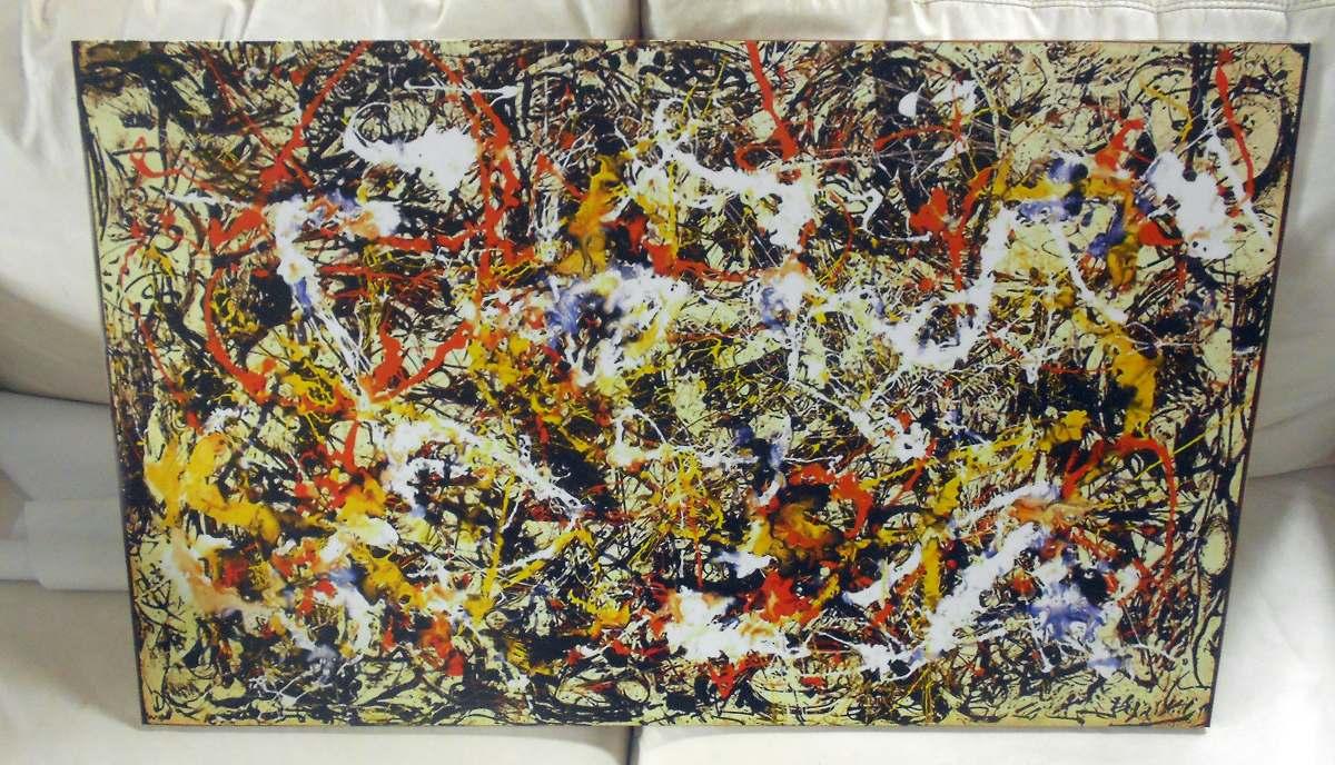 Cuadros Abstractos Jackson Pollock En Tela Algodon Bastidor - $ 960 ...