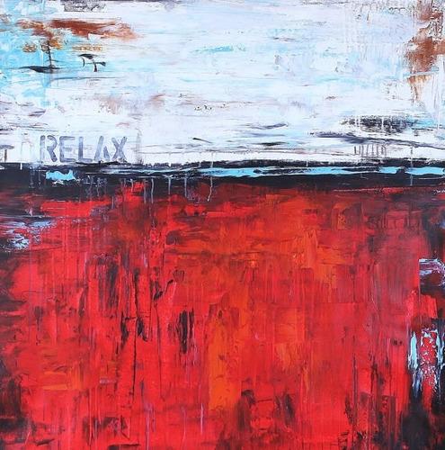 cuadros abstractos modernos acrilico oleo tripticos textura