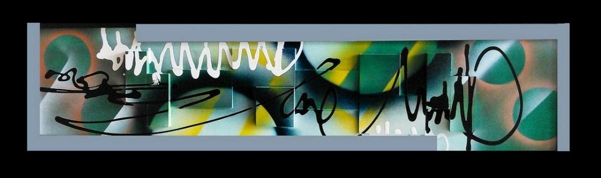 Cuadros abstractos modernos alto relieve marco madera bs for Cuadros abstractos con marco